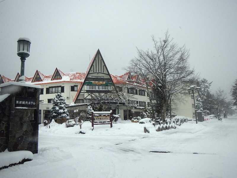 ホテル周辺は雪景色