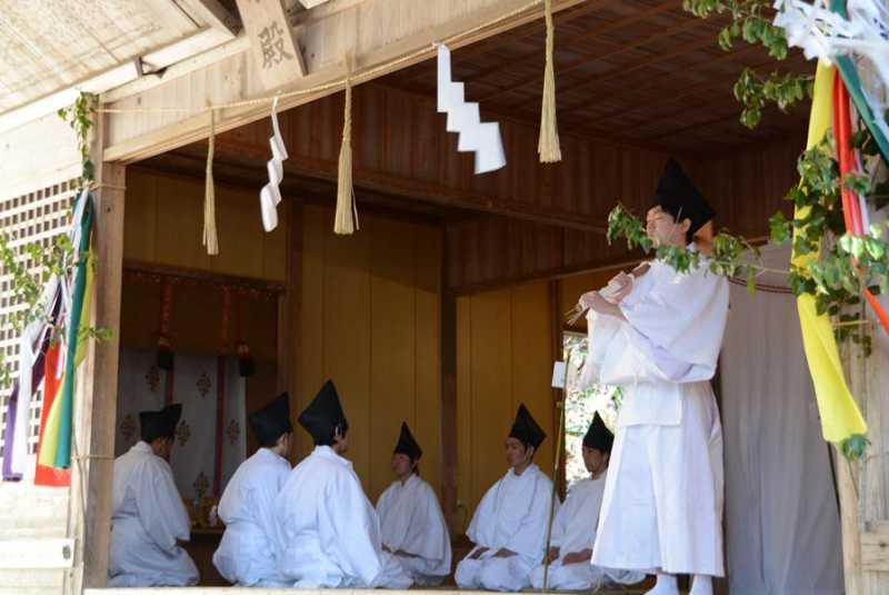 国宝仁科神明宮 古式作始めの神事