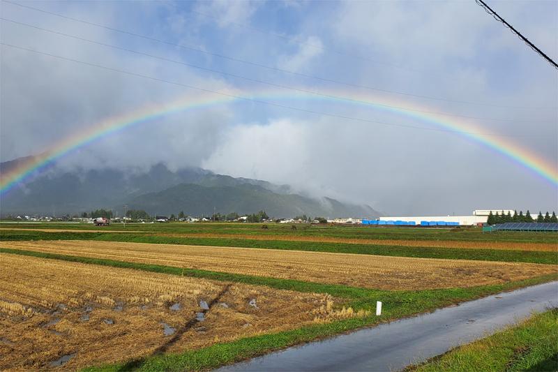 きれいな虹が見えました。